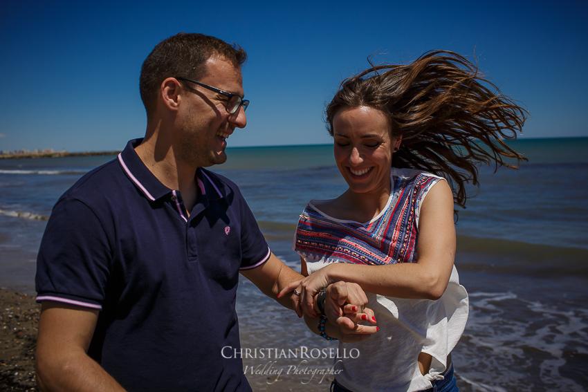Reportaje Pre Boda en Valencia Bea y Vicente, Playa de Alborraya. Christian Roselló Fotógrafo de Bodas nacional e internacional, con sede en Valencia.