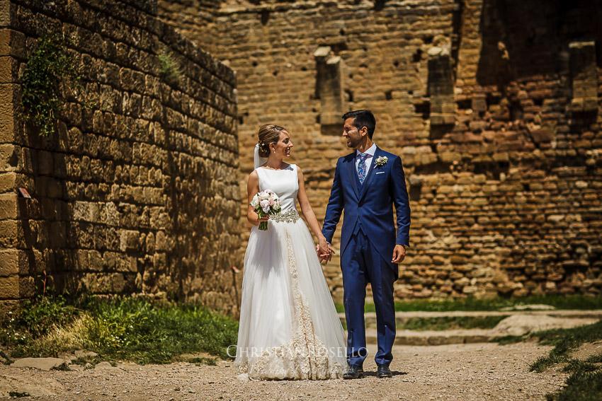 Boda en Castillo de Loarre Huesca Miriam y Pablo. Christian Roselló Fotógrafo de Bodas en Huesca, con sede en Valencia.