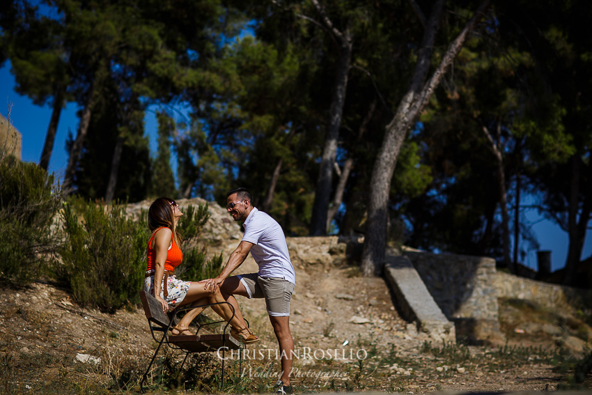 Pre Boda en el Salto de la Novia Lucía y Daniel, Mirador de Segorbe. Christian Roselló Fotógrafo de bodas nacional e internacional con sede en Valencia.
