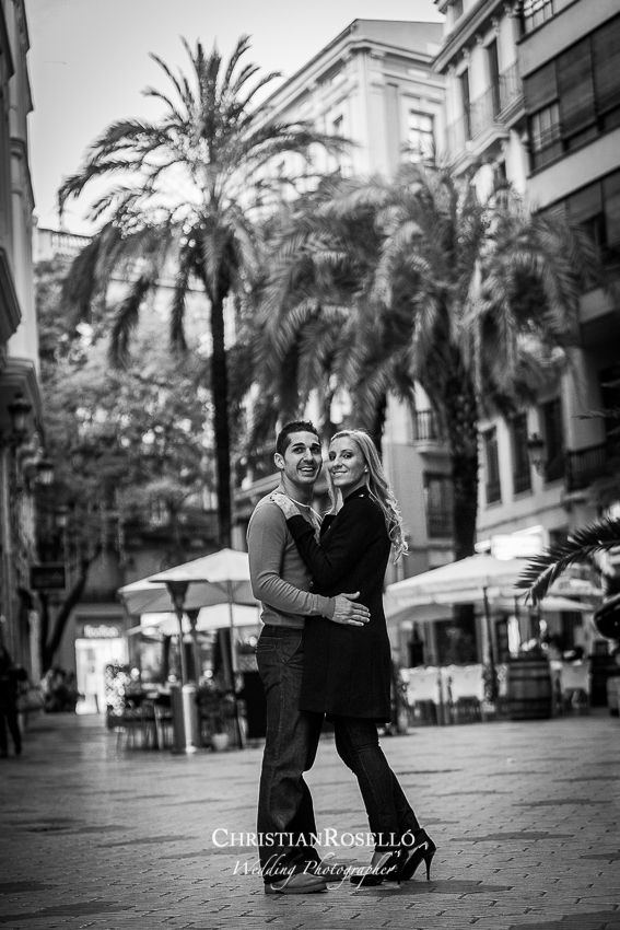 Reportaje Preboda en Valencia Ana y Javi en La Lonja de la Seda de Valencia