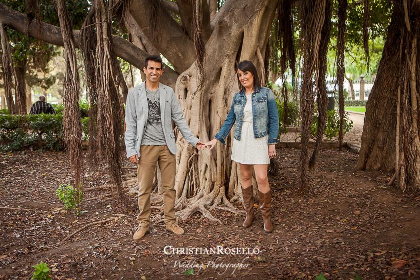 Reportaje preboda en los Jardines de Viveros de Valencia,Patricia y Jose, Christian Roselló, Fotografo de boda en Valencia, Destination Wedding Photographer